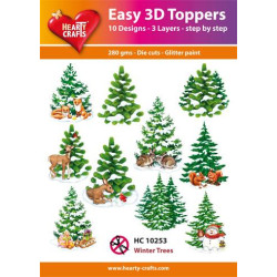 Easy 3D Toppers - Winter Trees