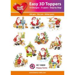 Easy 3D Toppers - Happy Santa