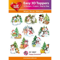 Easy 3D Toppers - Happy...