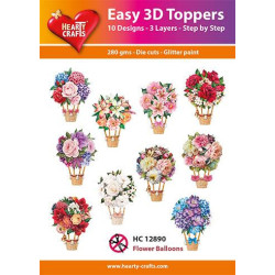 Easy 3D Toppers - Flower...