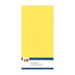 Card Deco Essentials - Linnen Karton 13.5x27 cm - Lys gul