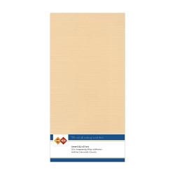 Card Deco Essentials - Linnen Karton 13.5x27 cm - Lys brun