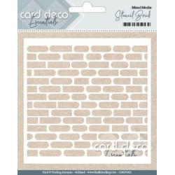 Card Deco Essentials - Mixed Media Stencil - Stencil Brick
