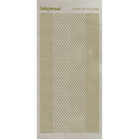 Halvperler selvklæbende 4mm 150 stk Gul/Guld Nuancer