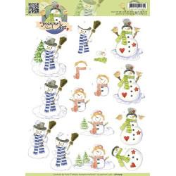 Jeanine's Art -   Snowmen -...