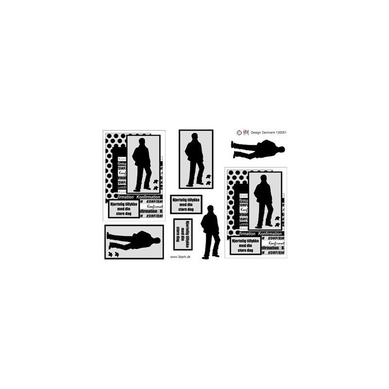 Dixi Craft - Papirblok - Bricks Background - PP0064
