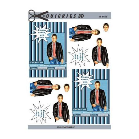 Card Deco - elf met poes en tijger - HJ3703