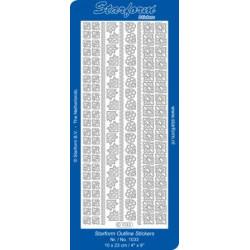 Halvperler selvklæbende 2mm 150 stk blå Nuancer