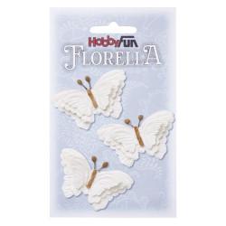 Florella Vlinders - Hvid