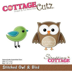 CottageCutz - Stitched Owl...