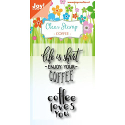 Joy! - Stempel - Coffee Txt...