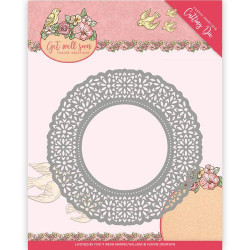 Yvonne Creations - Get Well Soon - Flower Doily - YCD10101