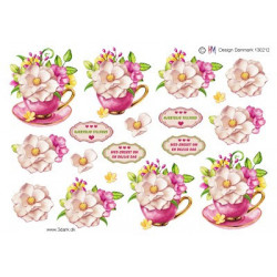 Ann Paper Art - Flower Circles - APA3D015