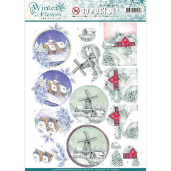 Sizzix - Tim Holtz - Thinlits Die Set - Stitched Circles 6PK - 662229