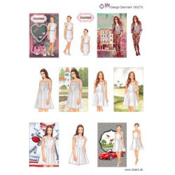 Nellie Snellen - Double Sided Background Sheet A4 - Stars