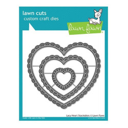 Lawn Fawn - Lacy Heart...