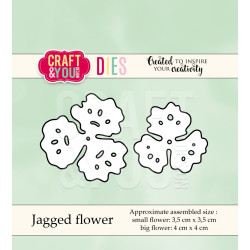 Craft & you - Jagged Flower...