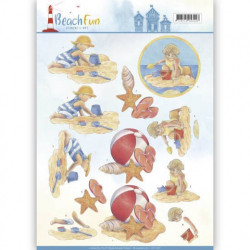 Jeanine's Art - Beach Fun -...