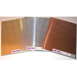 Metalkarton - A4 - Sølv
