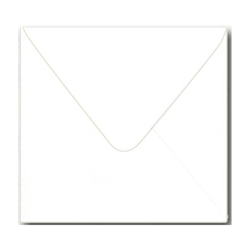 Kuverter 15,5x15,5 cm hvide