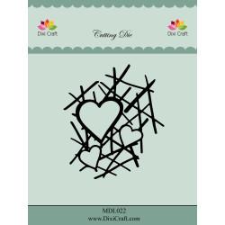 Dixi Craft - Heart Grid -...