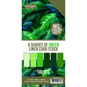 Card Deco Essentials - Linne Karton Blandet Pakker 13.5x27 cm