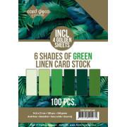 Card Deco Essentials - Linnen Karton Blandet Pakker A5